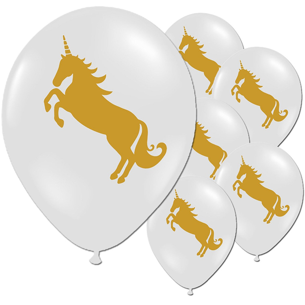 10pcs NEW gold Unicorn Balloons Party Supplies Latex Balloons Kids Cartoon Animal Horse Float Globe Birthday Party Decoration
