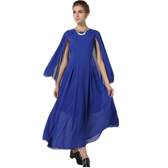 Vestido azul turquesa longo electric