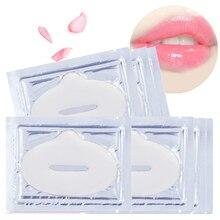 5pcs Crystal Mask for Lip Plumper Pads Film Nourishing Moisturizing Essence Collagen Lips Skin Care Patch Pad Enhancer