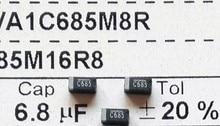 6.8 МКФ 16 В тип 1206 3216 C685 SMD Танталового Конденсатора Разъем TEESVA1C685M8R x100PCS Бесплатная Доставка