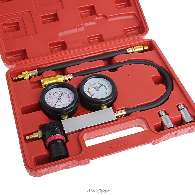 Auto Cylinder Engine Leak Leakdown Tester Compression Gauge Diagnostic Detector