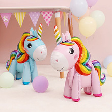 Birthday Ballon Unicorn Stand-Foil Party-Decorations Kids Favors Baby-Show-Supplies 1pc