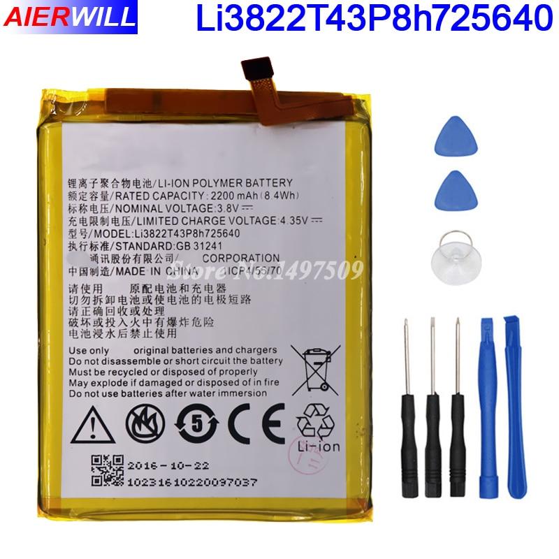 Li3822T43P8h725640 For ZTE Blade A510 BA510 Battery Batterie Bateria Batterij Accumulator 2200mAh +Tools