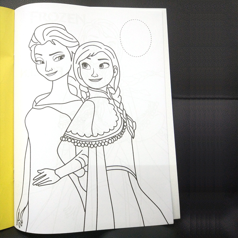 16 pages Snow Princess Girls Coloring Book Sticker Book For kids Children Adults colouring Painting Drawing story color books   (2)