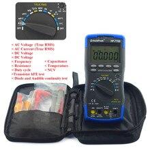 Holdpeak multimètre 770d vrai rms auto gamme 40000 compte multimetro lcd rétro-éclairage numérique multimètres voltmètre avec test de plomb