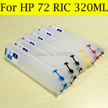 Bulk Supply 320ML Empty HP72 Refillable Ink Cartridge For HP 72 C9430A C9370A T610 T770 T790 Printer With ARC Chip