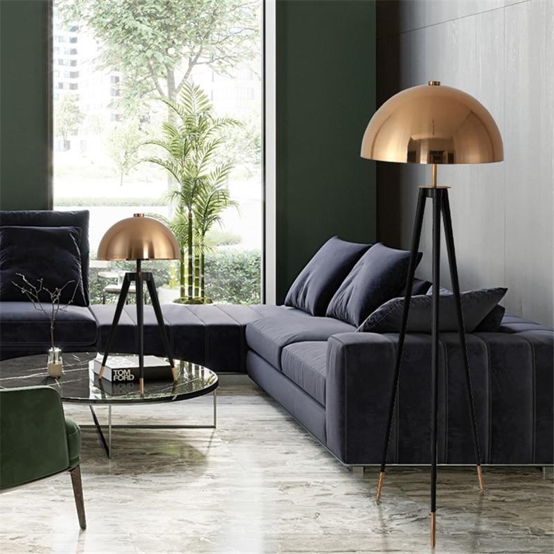 Дизайнерская Напольная Лампа с металлическим гальваническим покрытием с грибовидной головкой для дома, стоячие лампы для гостиной, спальни, прикроватная лампа, стоящая