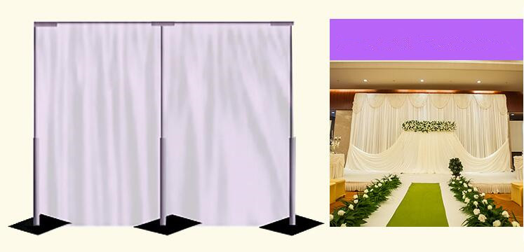 Us 165 5 Wedding Background 3 3m Wedding Drapery Pipe Stand Wedding Decor Pipe And Drape Stainess Steel Wedding Backdrop Frame Stand In Party Diy