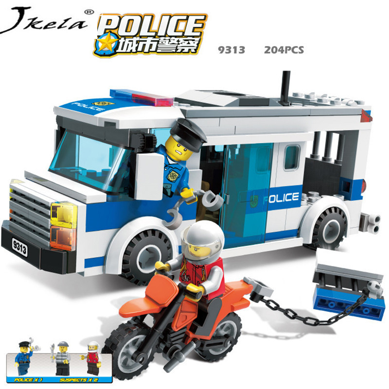 [Jkela] Police Station Model Building Blocks Playmobil Blocks DIY Bricks Educational Toys Compatible Legoingly Police enlighten building blocks military submarine model building blocks 382 pcs diy bricks educational playmobil toys for children
