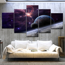 5 Panel/pieces HD Print Space with Stars Galaxies wall posters On Canvas Art Painting For home living room decoration