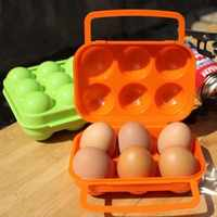 bf050 nuovo portatile scatola di uova uovo frigorifero uovo pacchetto della cassa esterna attrezzature picnic 6 case 16 * 15 * 7 cm