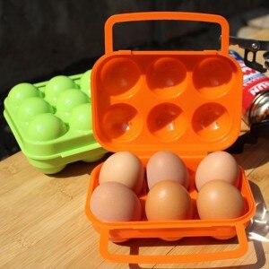 Bf050 novo portátil caixa de ovo ovo geladeira pacote caso ovo ao ar livre equipamentos piquenique 6 caso 16*15*7cm