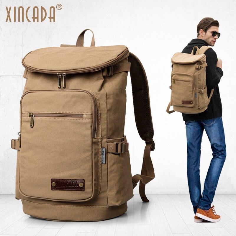 XINCADA Backpacks Travel Backpack Anti Theft Canvas Backpack School Bookbag Back Pack Men Backpack for 15.6 Inch Laptop dtbg backpack for men women 15 6 inch notebook laptop bags anti theft men s backpacks travel school back pack bag for teenagers