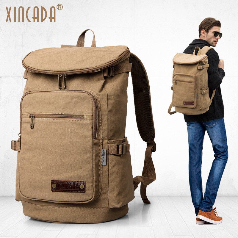 XINCADA Men's Backpack Vintage Canvas Backpack School Bag Travel Bags Large Capacity Travel Backpack Bag Laptop Backpack best sellers canvas backpack classic fashion women s small fresh school bag travel bags large capacity travel backpack bag