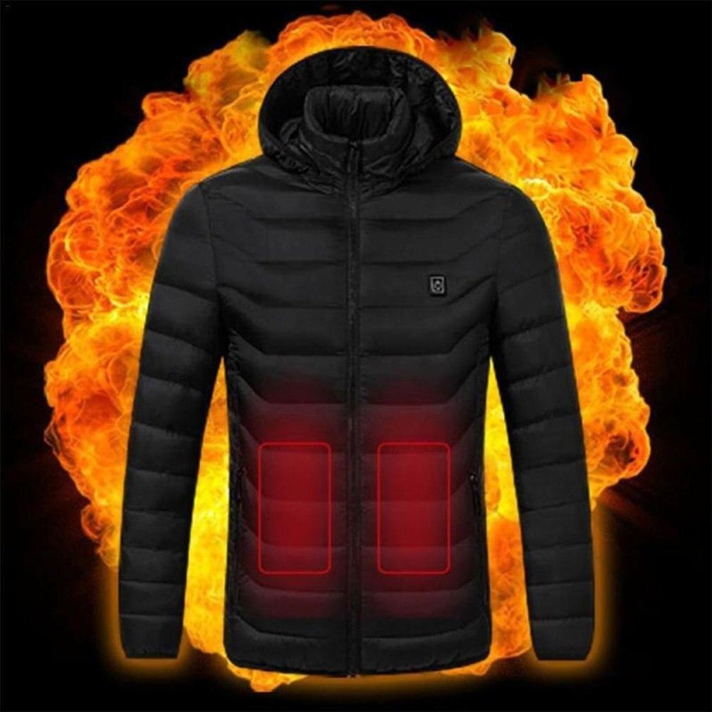 Hommes confortables vêtements thermiques USB chauffage manteau veste chauffante chauffage vêtements d'hiver vêtements de plein air livraison directe