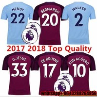 He 2017 2018 Thai AAA Patch Best Quality Adult Shirts Manchesteer Size 17 18 Home Away