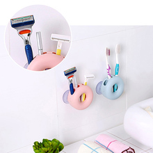 Wall Mount Strong Suction Cup Plastic Toothbrush Holder Organizer Storage Rack Shaver Tooth Brush Dispenser Bathroom Accessories