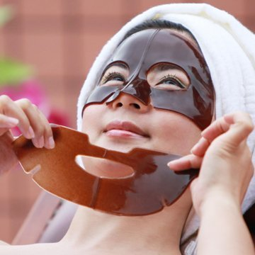 Face Slimming! Black Coffee Crystal Collagen Facial Mask