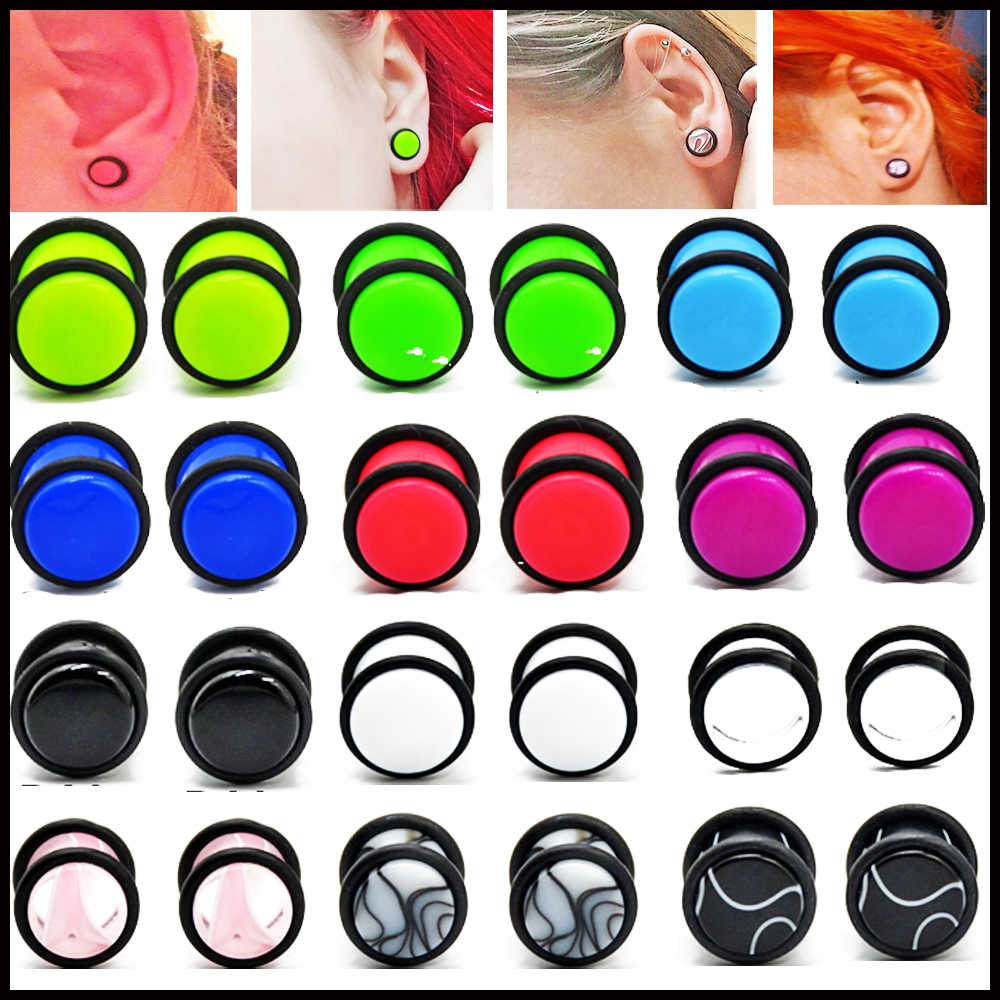 BOG-1 Pair Resin Ear Plugs Gauges Earrings Ear Plug Flesh Tunnel Piercing Expander Ear Stretcher Women Men Body Piercing Jewelry
