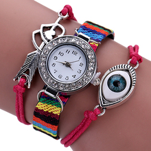 New! Girls's Classic Braid Bracelet Watch Arrow by means of Hearts Sample Wristwatch