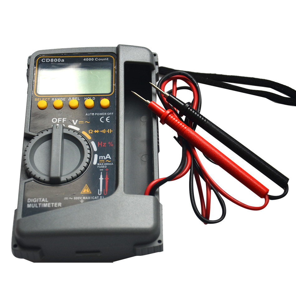 CD800a Digital Multimeter Electrical Capacitance Frequency Measurement Hand Strap Instruction Manual