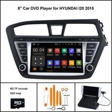 Android 5.1 Quad Core DVD Player DO CARRO para HYUNDAI I20 2015 STEREO CAR NAVIGATION + 1024X600 TELA WIFI/3G + DSP + RDS + 16 GB flash