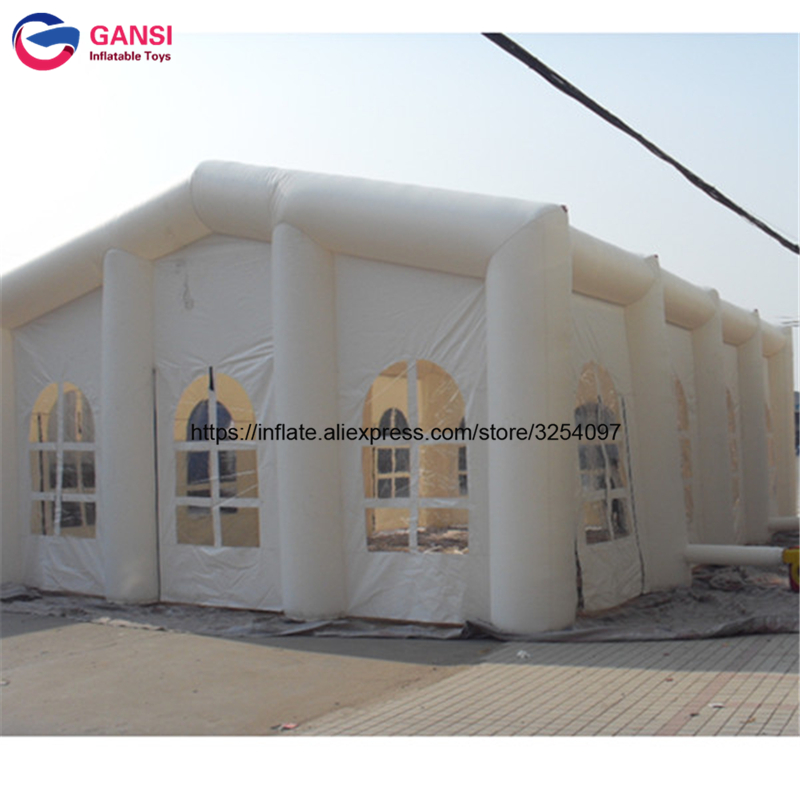 Большая Надувная уличная палатка, белый куб, 15*8*5 м, надувной шатер для свадебных мероприятий, производитель из Китая, палатки для вечеринок