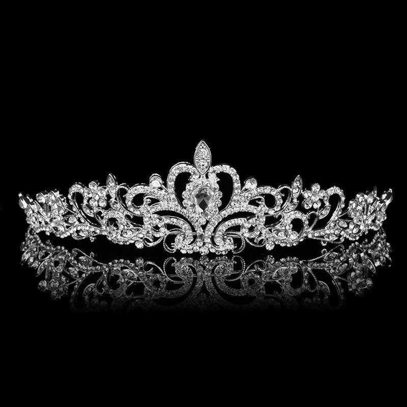 HTB17f7hGFXXXXX.XVXXq6xXFXXXX Magnificent Bridal Prom Pageant Crystal Inlaid Queen Tiara Crown - 2 Styles