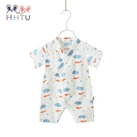 HHTU Cotton Baby Rompers Spring Summer Newborn Boys Girl Clothes Kids Jumpsuit Short Sleeve Thin Clothing