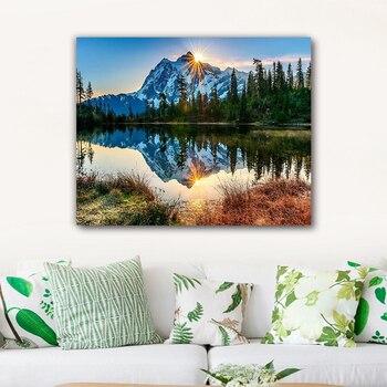 Malerei durch zahlen kunst farbe durch zahl Diy Landschaft malerei hand-gefüllt farbe dekoration malerei öl paintin