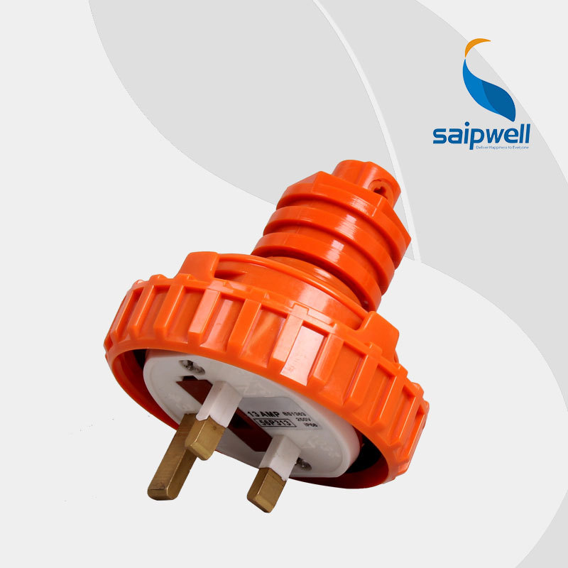 Wholesale 10A 3 Round Pin Angled Industrial plug Electrical Plug With CE Approved in Connectors from Lights Lighting