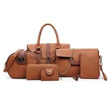 المرأة الجديدة ثعبان نمط ضرب اللون النرد حقيبة الأم حقائب اليد ستة قطعة موضة الكتف المحمولة السيدات حقيبة ساعي