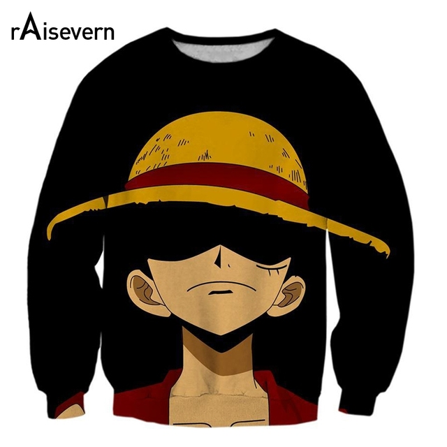 cd3aee25d2604 Anime ONE PIECE Luffy 3D Sweatshirts Cartoon Print Pullovers Men Women  Tracksuits Outerwear Unisex Hoody Plus