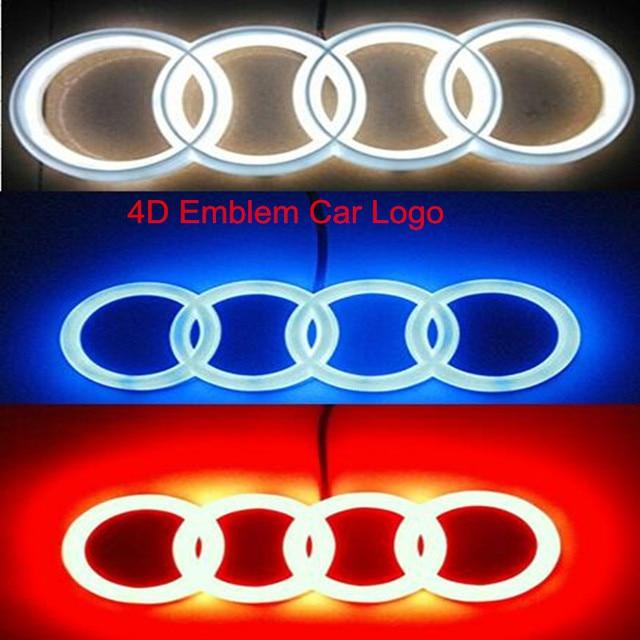 Free Shipping Piece New High Quality WhiteRedBlue D Emblem - Audi car sign