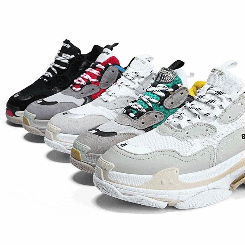 AoXunLong Women Running Shoes For Men Balenciaga Sneakers Women Similar  Brand Balencia Sport Shoes Men Unisex Size 35 44 Hot -in Running Shoes from  Sports ... eccd649d9