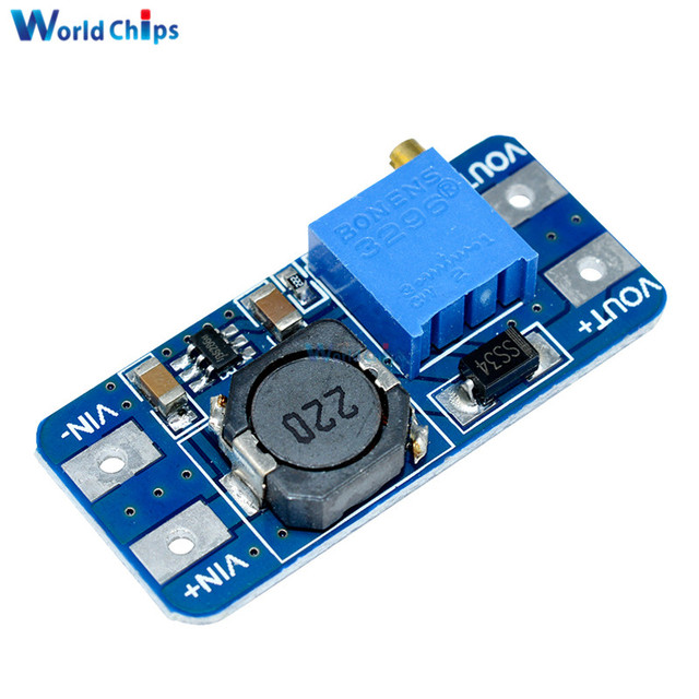 2PCS MT3608 DC-DC Step Up Converter Booster Power Supply Module Boost Step-up Board MAX output 28V 2A For Arduino