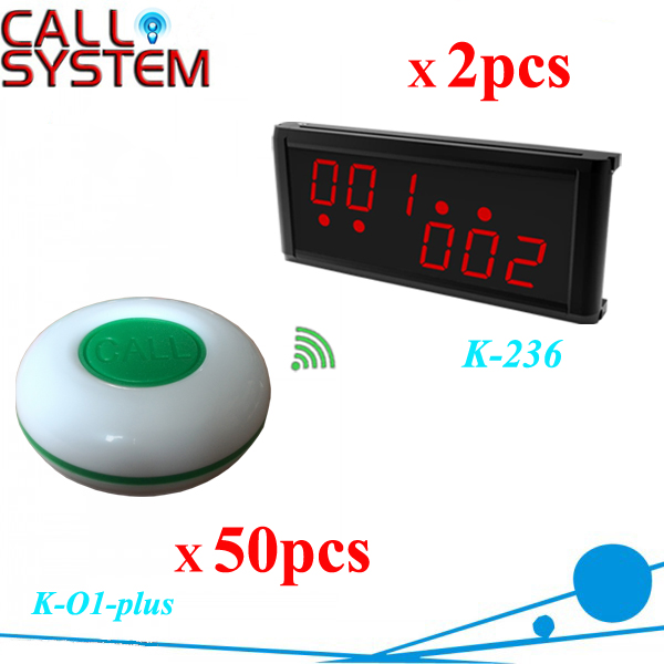 Restaurant Coffee Bar Wireless Call Calling System Waiter Service Paging System (2 receivers+50 buttons)|button htc|buttons for baby clothesbutton t-shirt - title=