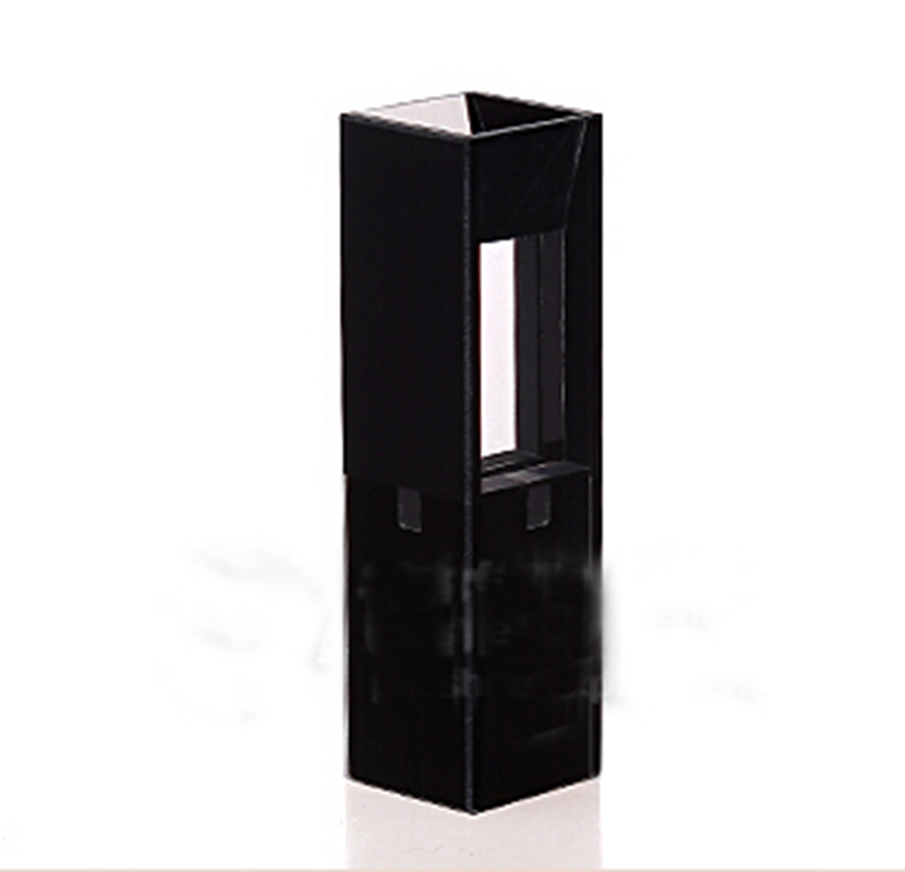 50ul 10mm Path Length Sub-Micro Fluorescence JGS1 Quartz Cell With Black Walls And Lid(50ul)50ul 10mm Path Length Sub-Micro Fluorescence JGS1 Quartz Cell With Black Walls And Lid(50ul)