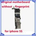 Placa de sistema ios para iphone 5s 16 gb placa lógica original desbloqueado placa principal motherboard sem impressões digitais oem