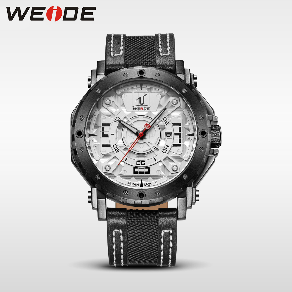 WEIDE men watch luxury brand waterproof  watch leather strap  Water Resistant quartz watches sport  clock relogio masculino 1601 weide japan quartz watch men luxury brand leather strap stainless steel buckle waterproof new relogio masculino sport wristwatch