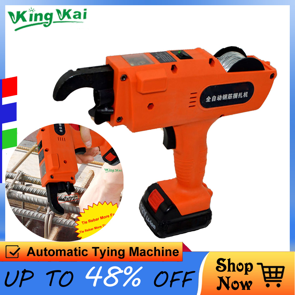 D2 12V Automatic Cordless Rechargeable Lithium Battery Electric Rebar Tying Machine Tool Set For Building Project Rebar Tier