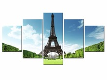 5 piece Scenic Tower Series Canvas Painting Wall Art Home Decor Poster Print unframe or framed/XC-city-3