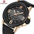 New Fashion Casual Men's Sports Military Watches with Calendar Function Leather Unique Big Dial Business Wristwatch Reloj Hombre