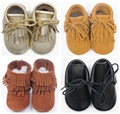 2016 new 100% hand-made lace-up Genuine Leather suede Baby Moccasins tassel First Walker Baby Shoes Chaussure Bebe toddler boots