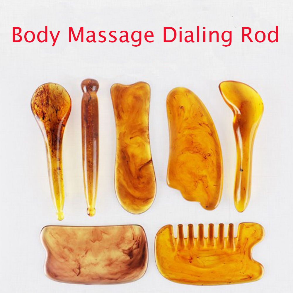 Natural Resin Amber Massage Scraping For Face Neck Beeswax Guasha Scraper Massager Scrape Therapy Acupoint Acupressure