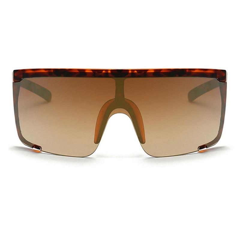 3948b295a5 Detail Feedback Questions about New Sunglasses Oversize women sunglasses  Large frame reflective Sunglasses Wind Men Sun Glasses Retro square Rimless  Glasses ...