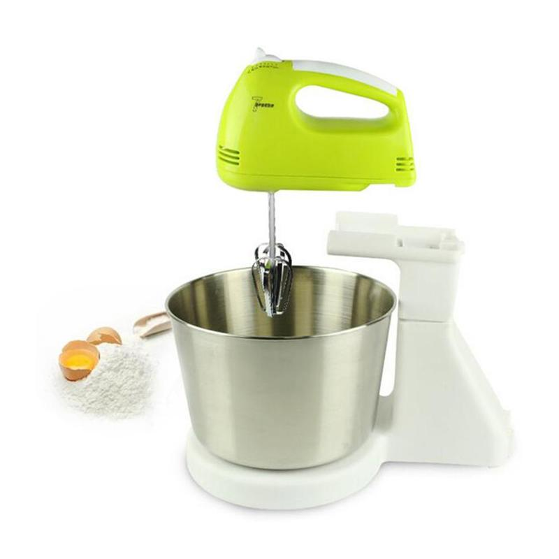 Electric Food Mixer Table Stand Cake Mixer Handheld Eggs Beater Blender Food Processor Multifunctional Kitchen Mixer 180W wavelets processor