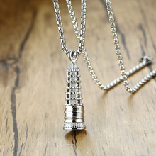 Fashion Silver Color Necklaces For Women Religion Jewelry Men Necklaces Pendants Tower Pendants For Unisex Wholesale unisex necklaces 925 silver lobster clasp necklaces for women men fashion jewelry