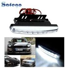 цена на New 2PCS Universal Car Daytime Running Lights Waterproof 8 LED DRL Day Time light Kit Super White 12V DC Head Lamp