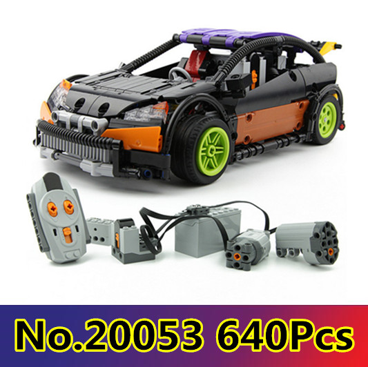 New Model building kits compatible with lego CITY 640PCS The Hatchback Type RC 3D blocks Educational toys hobbies for children